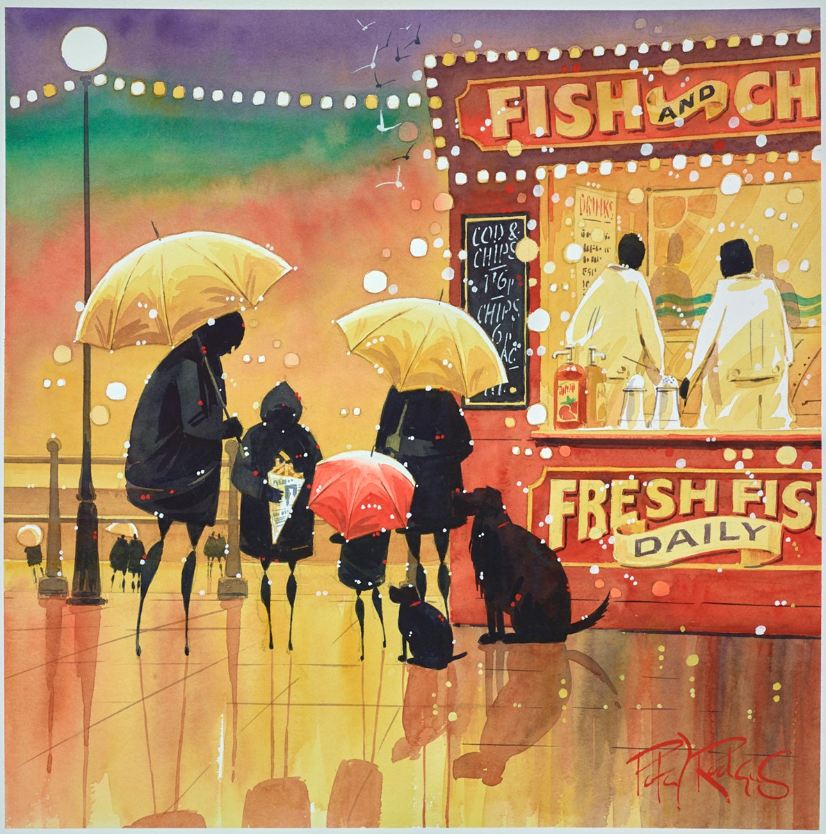 Just One Chip by peter j rodgers -  sized 16x16 inches. Available from Whitewall Galleries